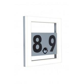LUTEC 5194302118 | Alice-LU Lutec stenové svietidlo pohybový senzor, svetelný senzor - súmrakový spínač 1x LED 800lm 3000K IP44 tmavošedá, opál
