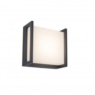 LUTEC 5195401118 | Qubo Lutec stenové svietidlo 1x LED 650lm 3000K IP54 tmavošedá, opál