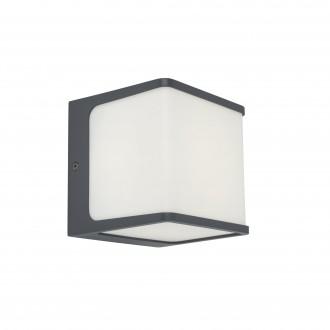 LUTEC 5197002125 | Doblo-LU Lutec stenové svietidlo 1x LED 800lm 3000K IP54 tmavošedá, opál