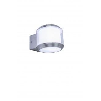 LUTEC 5198701001 | Whisper Lutec rameno stenové svietidlo E27 IP44 zušľachtená oceľ, nehrdzavejúca oceľ, opál