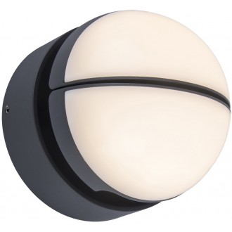 LUTEC 5199001118 | Eklips Lutec stenové svietidlo otočné prvky 1x LED 1000lm 3000K IP54 tmavošedá, opál