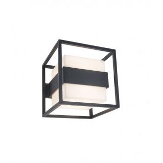 LUTEC 5199201118 | Cruz-LU Lutec stenové svietidlo 1x LED 1000lm 3000K IP54 tmavošedá, opál