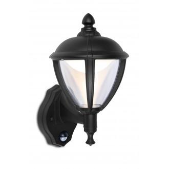 LUTEC 5260103012 | Unite Lutec rameno stenové svietidlo pohybový senzor, svetelný senzor - súmrakový spínač 1x LED 330lm 3000K IP44 čierna, priesvitné