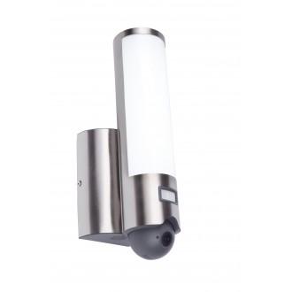 LUTEC 5267101001 | Secury_Light-Elara Lutec svietidlo skamerou stenové pohybový senzor, svetelný senzor - súmrakový spínač reproduktor, mikrofón, regulovateľná intenzita svetla, otočné prvky, Wifi pripojenie 1x LED 1200lm 3000K IP44 zušľachtená oceľ, neh