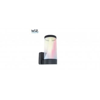 LUTEC 5271002118 | WiZ-Spica Lutec rameno stenové WiZ múdre osvetlenie regulovateľná intenzita svetla, nastaviteľná farebná teplota, meniace farbu, otočné prvky, Wifi pripojenie 1x LED 1000lm 2200 <-> 6500K IP54 tmavo sivé, opál