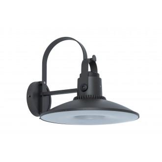 LUTEC 5274601412 | Darli Lutec rameno stenové svietidlo reproduktor, Bluetooth 1x LED 1500lm 3000K IP44 tmavo sivé, opál