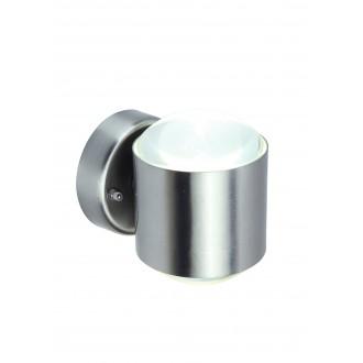 LUTEC 5521201001 | Crystal-LU Lutec rameno stenové svietidlo 1x LED 660lm 3000K IP44 zušľachtená oceľ, nehrdzavejúca oceľ, priesvitné