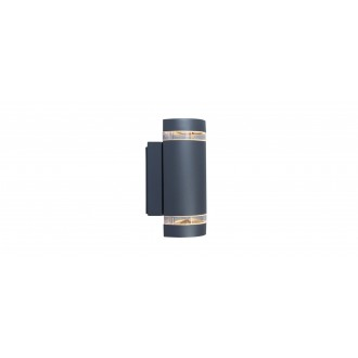 LUTEC 5604011118 | Focus-LUT Lutec rameno stenové svietidlo 2x GU10 IP44 antracitová sivá, priesvitné