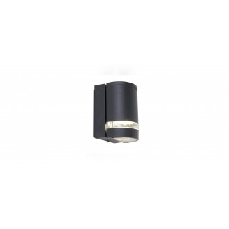 LUTEC 5604101118 | Focus-LUT Lutec rameno stenové svietidlo 1x GU10 IP44 antracitová sivá, priesvitné