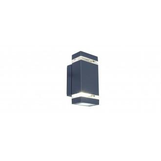 LUTEC 5605013118 | Focus-LUT Lutec rameno stenové svietidlo 1x LED 300lm 4000K IP44 antracitová sivá, priesvitné