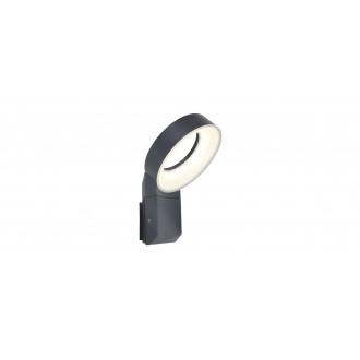 LUTEC 5616302118 | Meridian Lutec rameno stenové svietidlo 1x LED 800lm 3000K IP54 antracitová sivá