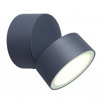 LUTEC 5626001118 | Trumpet-LU Lutec rameno stenové svietidlo otočné prvky 1x LED 850lm 4000K IP54 antracitová sivá