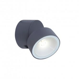 LUTEC 5626101125 | Trumpet-LU Lutec rameno stenové svietidlo otočné prvky 1x LED 600lm 4000K IP54 sivé, opál