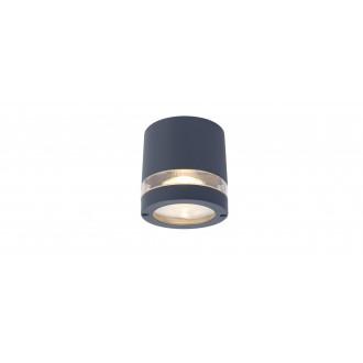 LUTEC 6304201118 | Focus-LUT Lutec stropné svietidlo 1x GU10 IP44 tmavošedá, priesvitné