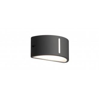 LUTEC 6330401118 | Bonn-LU Lutec stenové svietidlo 1x E27 IP54 antracitová sivá, opál