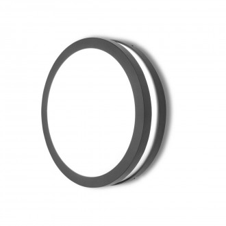 LUTEC 6336201118 | Titan Lutec stenové, stropné svietidlo 1x E27 IP54 tmavo sivé, opál