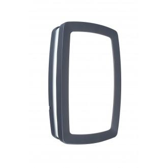 LUTEC 6338201118 | Seine Lutec stenové, stropné svietidlo 2x E27 IP54 antracitová sivá, opál