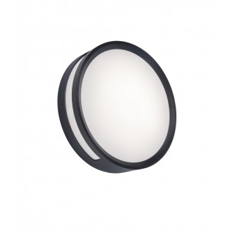 LUTEC 6382201118 | Rola Lutec stropné svietidlo 1x LED 800lm 3000K IP54 tmavošedá, opál