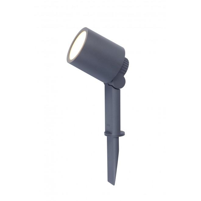 LUTEC 6609201118 | Explorer Lutec zapichovacie svietidlo otočné prvky, vybavené vedením a zástrčkou 1x LED 300lm 3000K IP54 antracitová sivá, priesvitné