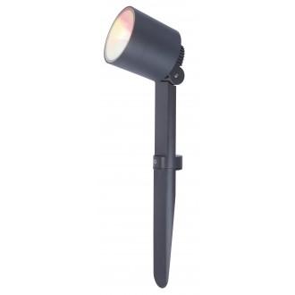 LUTEC 6609205118 | WiZ-Explorer Lutec zapichovacie WiZ múdre osvetlenie regulovateľná intenzita svetla, nastaviteľná farebná teplota, meniace farbu, otočné prvky, Wifi pripojenie 1x LED 430lm 2200 <-> 6500K IP54 tmavošedá