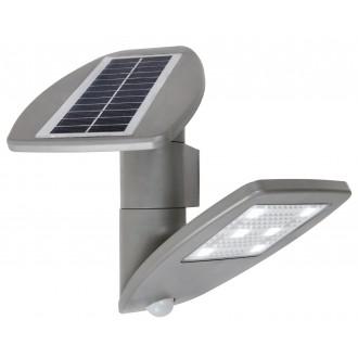 LUTEC 6901101000 | Pole_Drop_Bread_Zeta Lutec rameno stenové svietidlo pohybový senzor, prepínač slnečné kolektorové / solárne, otočné prvky 1x LED 200lm 4000K IP44 strieborno sivá, priesvitné