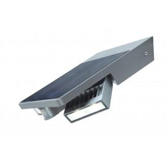 LUTEC 6901201000   Tilly-LU Lutec rameno stenové svietidlo pohybový senzor, prepínač slnečné kolektorové / solárne, otočné prvky 1x LED 420lm 4000K IP44 strieborno sivá, priesvitné