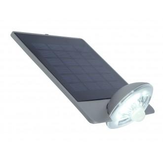 LUTEC 6901301337 | Pole_Drop_Bread_Zeta Lutec rameno stenové svietidlo pohybový senzor, prepínač slnečné kolektorové / solárne, otočné prvky 1x LED 240lm 4000K IP44 strieborno sivá, priesvitné