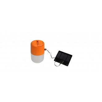 LUTEC 6903503340 | Bump Lutec prenosné, stolové, visiace svietidlo dotykový prepínač s reguláciou svetla slnečné kolektorové / solárne, regulovateľná intenzita svetla, USB prijímač, nastaviteľná výška 1x LED 100lm 4000K IP44 pomaranč, opál