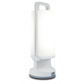 LUTEC 6904101331 | Dragonfly-LU Lutec prenosné, stolové svietidlo dotykový prepínač s reguláciou svetla slnečné kolektorové / solárne, regulovateľná intenzita svetla, USB prijímač, otočné prvky 1x LED 120lm 4000K IP54 biela, opál