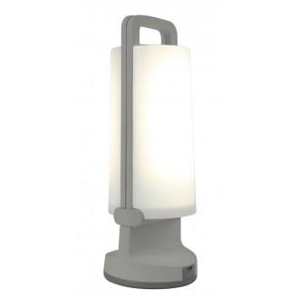 LUTEC 6904101337 | Dragonfly-LU Lutec prenosné, stolové svietidlo dotykový prepínač s reguláciou svetla slnečné kolektorové / solárne, regulovateľná intenzita svetla, USB prijímač, otočné prvky 1x LED 120lm 4000K IP54 strieborno sivá, opál