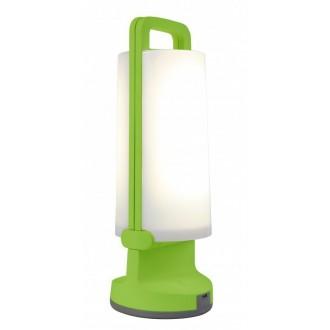 LUTEC 6904101339 | Dragonfly-LU Lutec prenosné, stolové svietidlo dotykový prepínač s reguláciou svetla slnečné kolektorové / solárne, regulovateľná intenzita svetla, USB prijímač, otočné prvky 1x LED 120lm 4000K IP54 zelená, opál