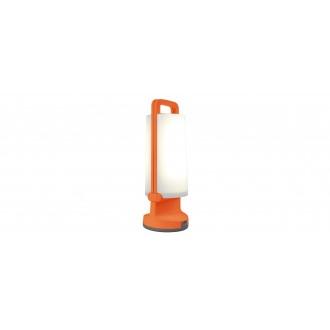 LUTEC 6904101340 | Dragonfly-LU Lutec prenosné, stolové svietidlo dotykový prepínač s reguláciou svetla slnečné kolektorové / solárne, regulovateľná intenzita svetla, USB prijímač, otočné prvky 1x LED 120lm 4000K IP54 pomaranč, opál