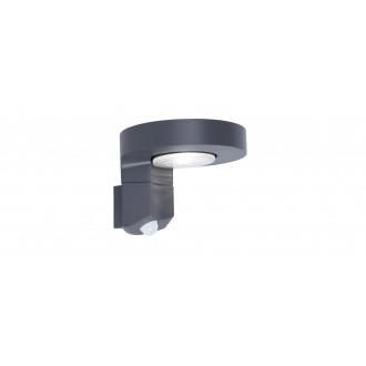 LUTEC 6906702335 | Diso Lutec rameno stenové svietidlo pohybový senzor, prepínač slnečné kolektorové / solárne, otočné prvky 1x LED 200lm 4000K IP44 antracitová sivá, priesvitné