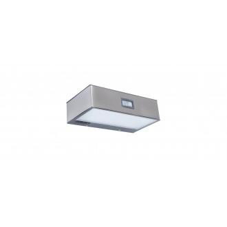 LUTEC 6908501308 | Brick-LU Lutec stenové svietidlo pohybový senzor, prepínač slnečné kolektorové / solárne 1x LED 150lm 4000K IP44 zušľachtená oceľ, nehrdzavejúca oceľ, priesvitné