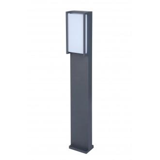LUTEC 7193001118 | Qubo Lutec stojaté svietidlo 75cm 1x LED 1100lm 3000K IP54 antracitová sivá, opál
