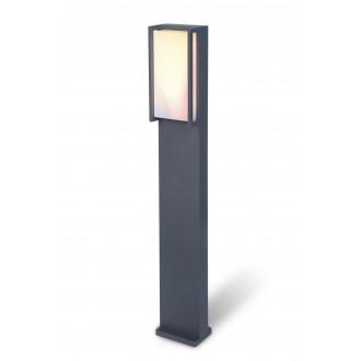 LUTEC 7193002118 | WiZ-Qubo Lutec stojaté WiZ múdre osvetlenie 75cm regulovateľná intenzita svetla, nastaviteľná farebná teplota, meniace farbu, otočné prvky, Wifi pripojenie 1x LED 1000lm 2200 <-> 6500K IP54 antracitová sivá, opál