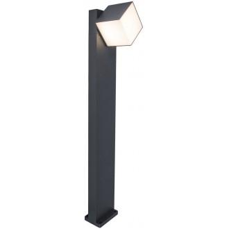 LUTEC 7193802118 | Cuba-LU Lutec stojaté svietidlo 75cm otočné prvky 1x LED 600lm 3000K IP54 tmavošedá, opál