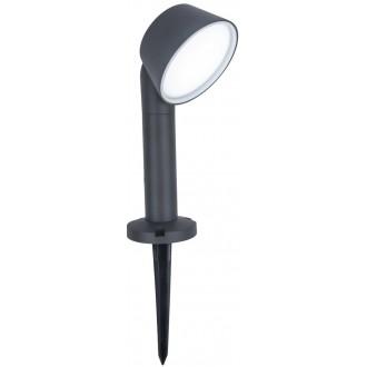 LUTEC 7288602118 | Dakota-LU Lutec zapichovacie svietidlo regulovateľná intenzita svetla, nastaviteľná farebná teplota, Bluetooth 1x LED 800lm 2700 <-> 6500K IP54 tmavošedá, opál
