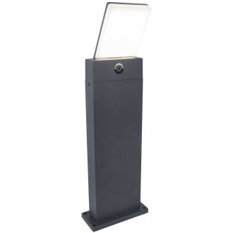 LUTEC 7289001118 | Pano Lutec stojaté svietidlo 63,5cm regulovateľná intenzita svetla, nastaviteľná farebná teplota 1x LED 1200lm 3000 <-> 5000K IP54 tmavošedá, opál