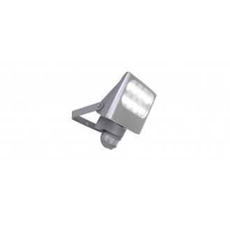 LUTEC 7617002112 | Negara Lutec svetlomet svietidlo pohybový senzor, svetelný senzor - súmrakový spínač otočné prvky 1x LED 1540lm 4000K IP54 strieborno sivá, priesvitné
