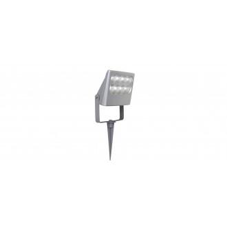 LUTEC 7617003112 | Negara Lutec zapichovacie svetlomet otočné prvky 1x LED 1540lm 4000K IP54 strieborno sivá, priesvitné