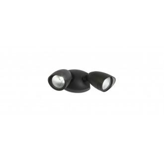 LUTEC 7621902012 | Shrimp Lutec svetlomet svietidlo otočné prvky 2x LED 1380lm 4000K IP54 čierna, priesvitné