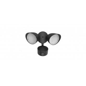 LUTEC 7622206012 | Camera_Light-Draco Lutec svietidlo skamerou svetlomet pohybový senzor, svetelný senzor - súmrakový spínač reproduktor, mikrofón, regulovateľná intenzita svetla, otočné prvky, Wifi pripojenie 1x LED 1200lm 5000K IP54 čierna, priesvitná