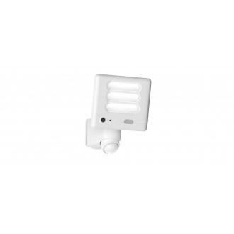 LUTEC 7625501053 | Secury_Light-Esa Lutec svietidlo skamerou svetlomet pohybový senzor, svetelný senzor - súmrakový spínač reproduktor, mikrofón, regulovateľná intenzita svetla, otočné prvky, Wifi pripojenie 1x LED 1530lm 5000K IP54 biela, opál