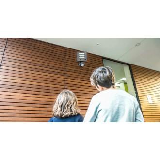 LUTEC 7625501118 | Secury_Light-Esa Lutec svietidlo skamerou svetlomet pohybový senzor, svetelný senzor - súmrakový spínač reproduktor, mikrofón, regulovateľná intenzita svetla, otočné prvky, Wifi pripojenie 1x LED 1530lm 5000K IP54 antracitová sivá, opá