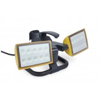 LUTEC 7629301341 | Peri-LU Lutec prenosné svetlomet otočné prvky, vybavené vedením a zástrčkou 2x LED 2000lm 5000K IP54 antracitová sivá, priesvitné