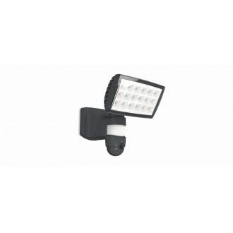 LUTEC 7629502335 | Secury_Light-Peri Lutec svietidlo skamerou svetlomet pohybový senzor, svetelný senzor - súmrakový spínač reproduktor, mikrofón, regulovateľná intenzita svetla, otočné prvky, Wifi pripojenie 1x LED 2120lm 5000K IP44 antracitová sivá, pr