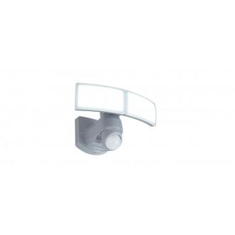 LUTEC 7632201053 | Arc-LU Lutec svetlomet svietidlo pohybový senzor, svetelný senzor - súmrakový spínač otočné prvky 2x LED 1200lm 5000K IP54 biela, opál