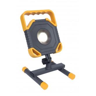 LUTEC 7633301118 | Modo-LU Lutec prenosné svetlomet otočné prvky, vybavené vedením a zástrčkou 1x LED 1500lm 5000K IP54 antracitová sivá, žltá