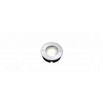 LUTEC 7704601012 | Strata Lutec zabudovateľné svietidlo Ø120mm 1x LED 320lm 3000K IP67 zušľachtená oceľ, nehrdzavejúca oceľ, morené